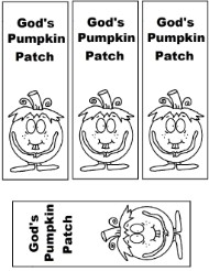 Pumpkin Sunday school lesson Gods pumpkin patch bookmark printables