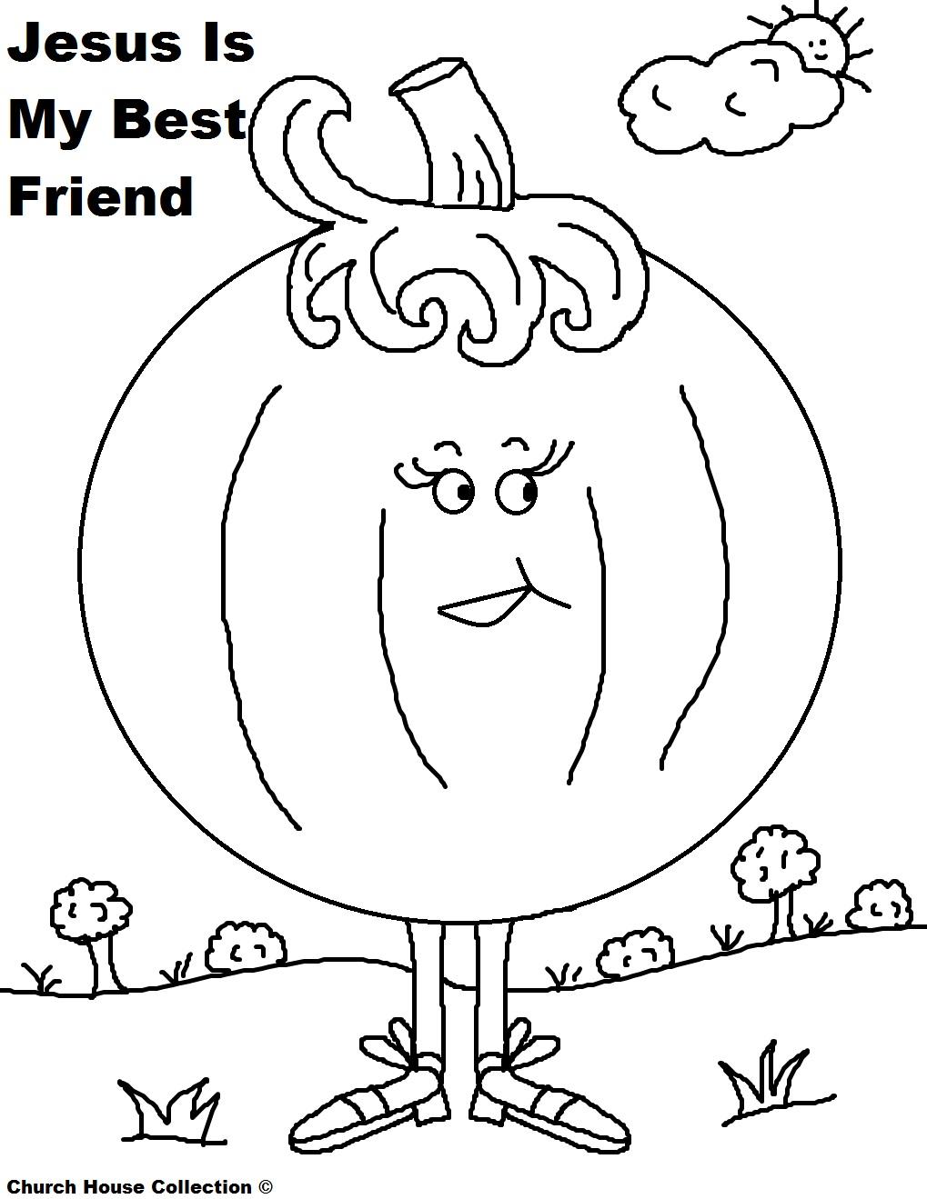 pumpkin coloring page jesus is my best friend