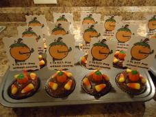 Fall Snack Ideas For Sunday School or Church | Pumpkin Cupcakes With Candy Corn