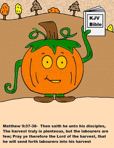 Christian Pumpkin Colored Pages
