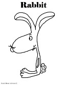 Rabbit Coloring Page- Animal Coloring Pages For Kids
