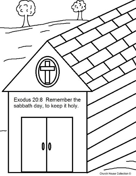 Remember The Sabbath Day By Keeping It Holy Coloring Page- Ten Commandments Coloring Pages For Kids- Sunday School Lessons For Kids