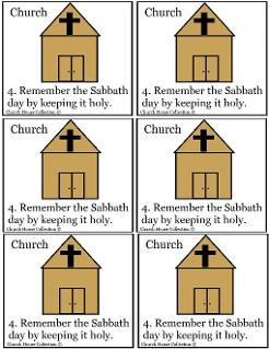 Remember The Sabbath Day By Keeping It Holy Template