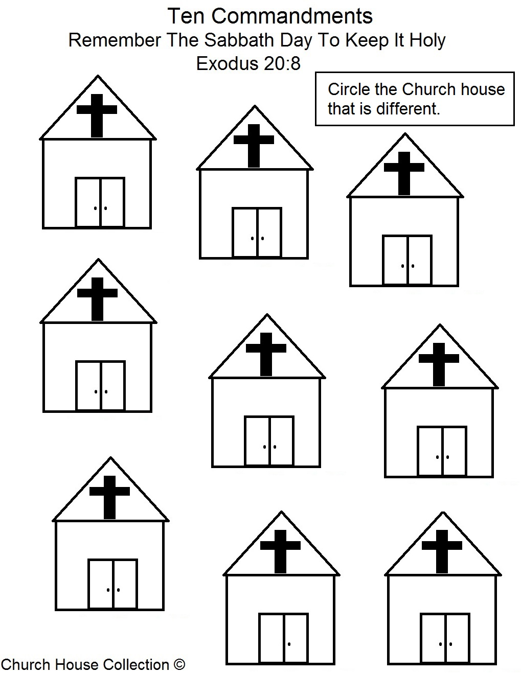 sabbath coloring pages - remember the sabbath day and keep it holy sunday school lesson