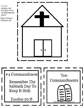 Remember The Sabbath Day To Keep It Holy Cut Out Sheet