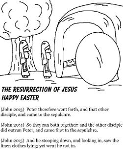 Easter Coloring Pages-The Resurrection of Jesus Happy Easter-Tomb Easter Coloring Pages for Sunday School Preschool Kids by ChurchHouseCollection.com Easter Resurrection Coloring Pages for Sunday School Preschool Kids