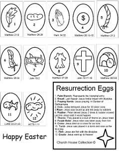 Resurrection Eggs Coloring Page Printable Free for Kids in Sunday School or Children's Church. Easter Resurrection Coloring Pages by ChurchHouseCollection.com Easter Egg Coloring Pages for Sunday School Preschool Kids