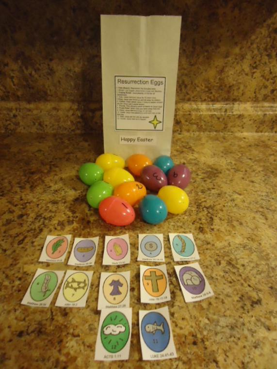 Resurrection Eggs Craft for Kids in Sunday school or Children's Church. Free Easter Resurrection Eggs printables for small kids.