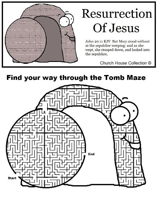 resurrection of jesus tomb maze worksheet. Black Bedroom Furniture Sets. Home Design Ideas