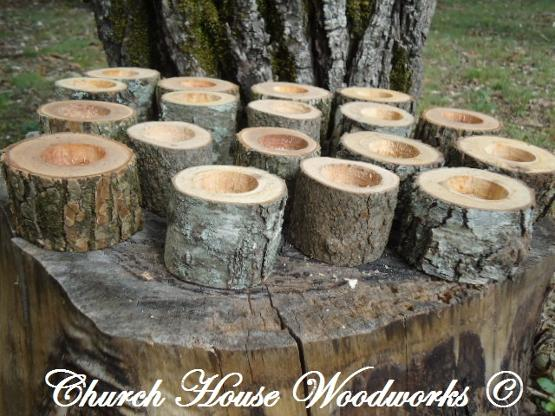Rustic Wedding Candle Holders