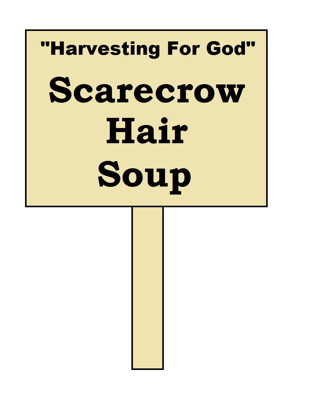 Scarecrow Hair Soup- Pumpkin With Chicken Noodle Soup In It