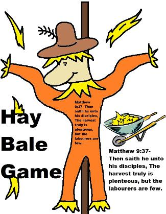 Hay Bale Game Printable Template Scarecrow Fall Festival