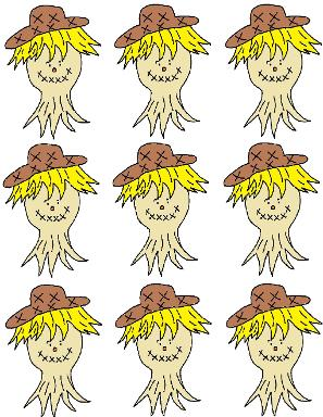 Scarecrow Template Cupcake Toppers