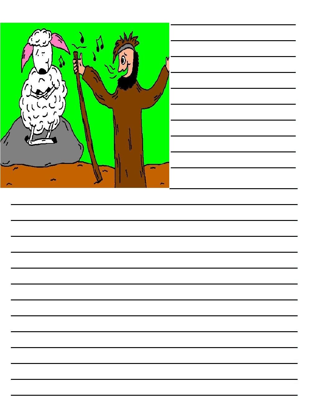 Shepherds and Sheep Printable Writing Paper – Print Writing Paper