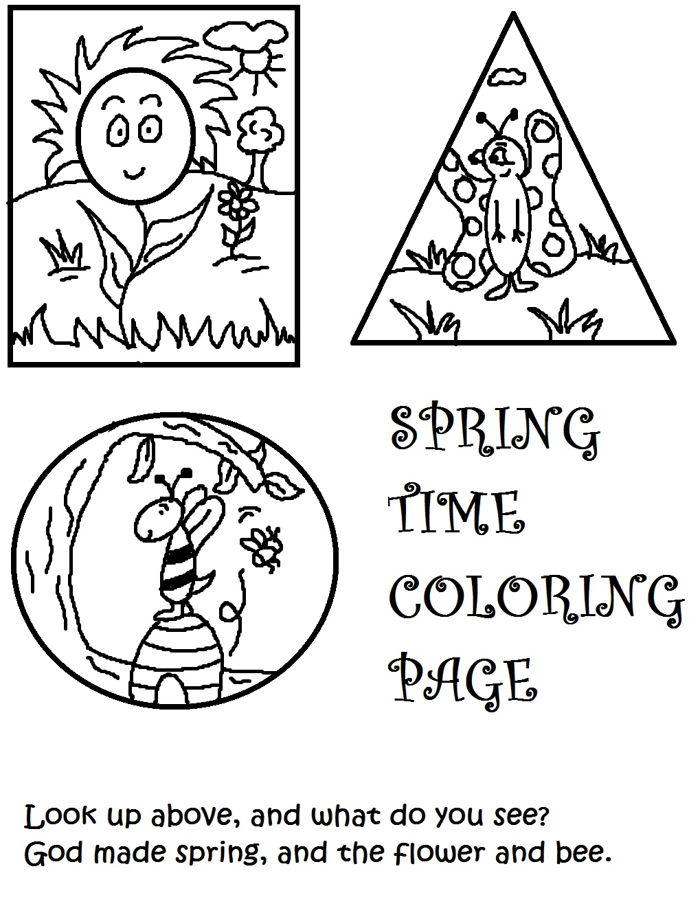 Spring coloring pages for church - Spring Coloring Pages