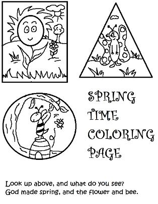 Spring Coloring Pages for Kids in Sunday School by Church House Collection©