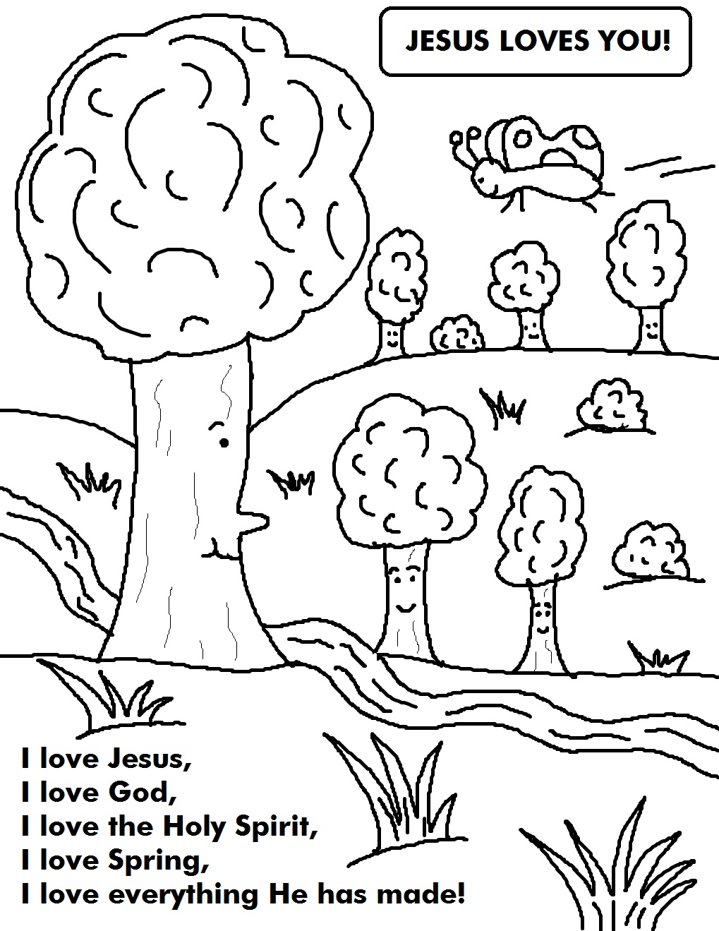 Coloring pages for spring