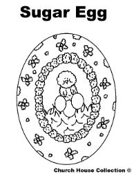 Easter Coloring Pages- Sugar Egg Coloring Pages