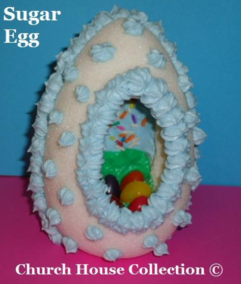 Easter Snacks Sugar Eggs by ChurchHouseCollection.com - Sugar Eggs DIY Tutorial On How To Make Them