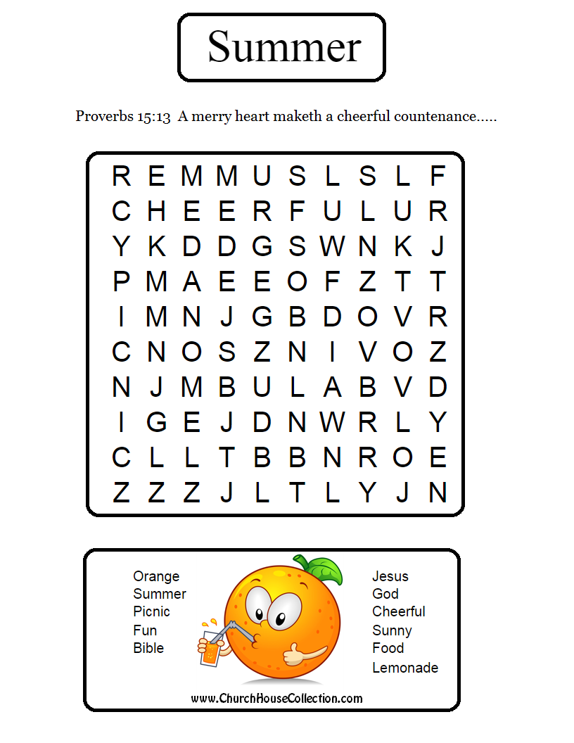 Printable Word Search Version