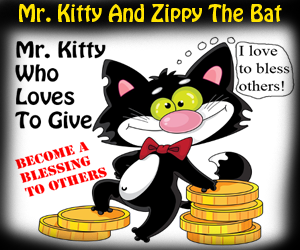 Mr. Kitty And Zippy The Bat©