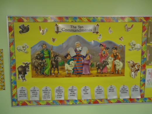 Ten Commandments Bulletin Board Idea
