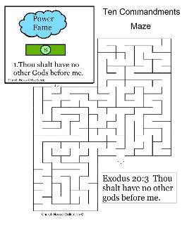 Ten Commandments Thou Shalt have no other gods before me maze