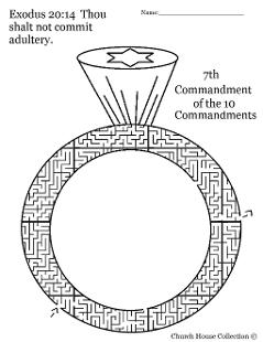 Thou shalt not commit adultery maze for ten commandments