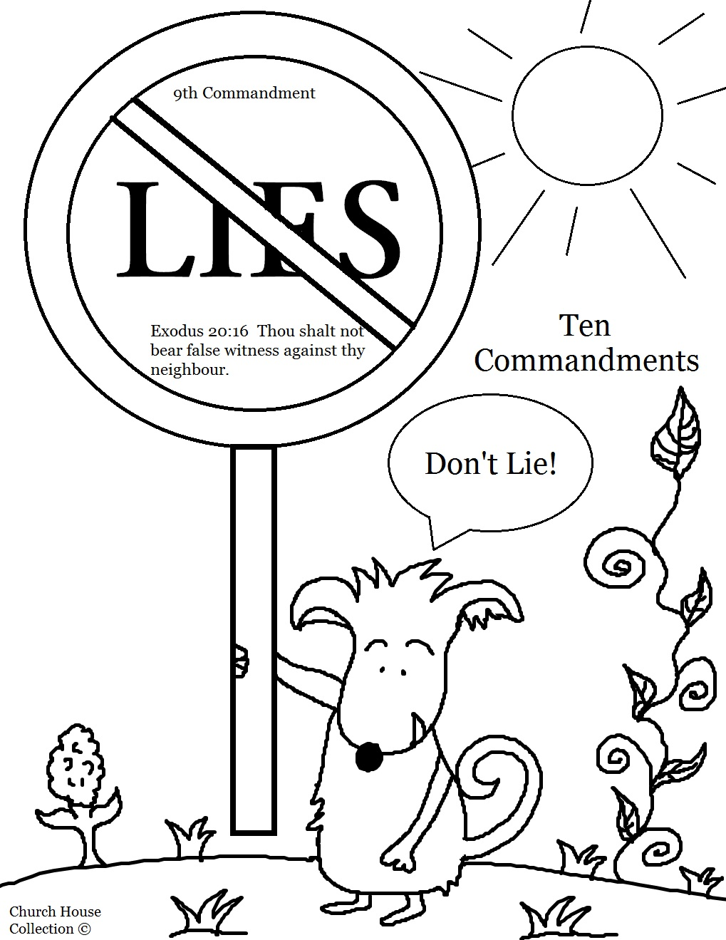 Thou Shalt Not Lie Sunday School Lesson – Ten Commandments Worksheets