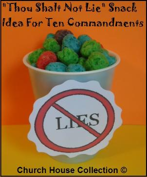 Thou Shalt Not Lie Snack For Ten Commandments