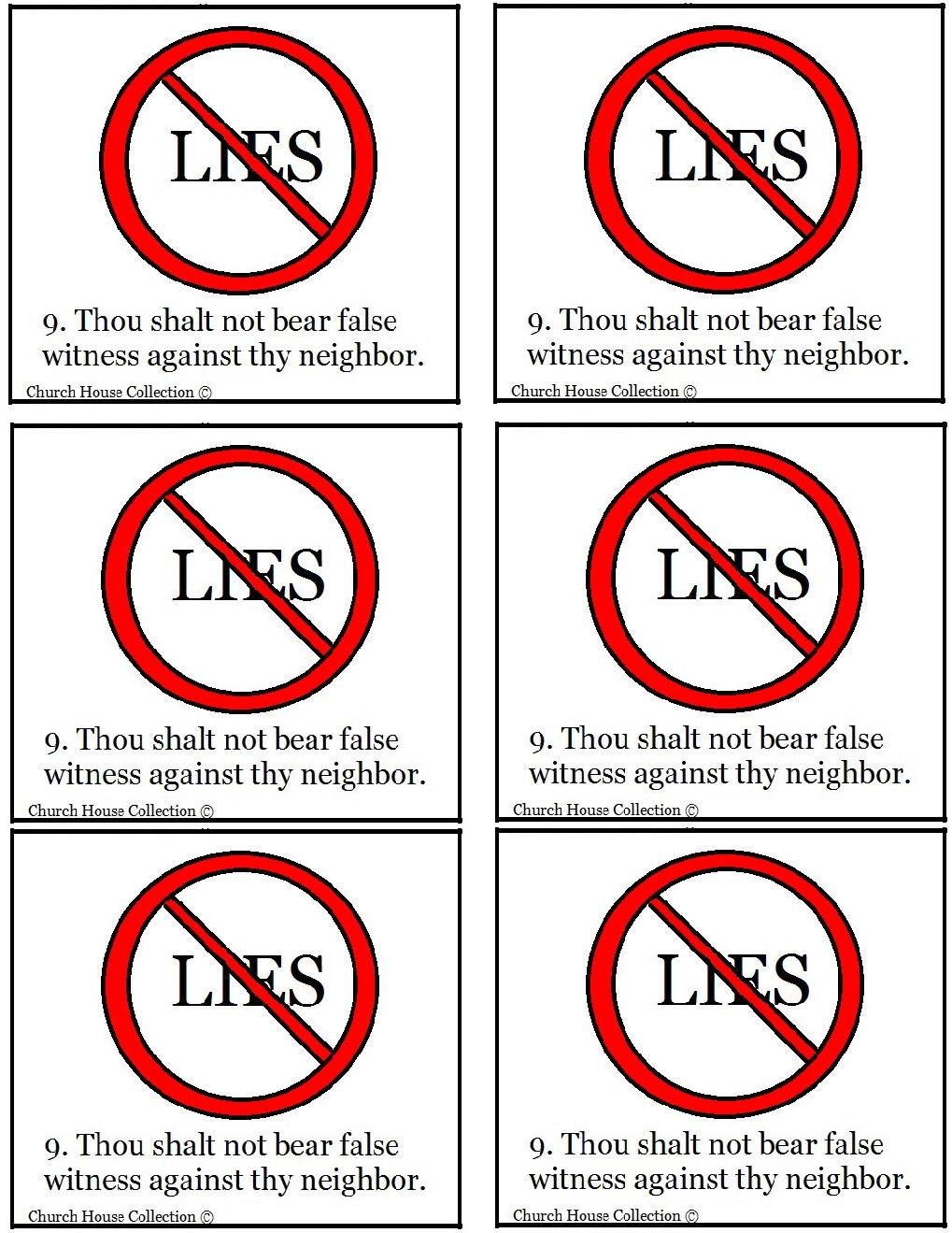 thou shalt not lie sunday lesson