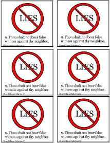 Thou Shalt Not Lie Template For Ten Commandments