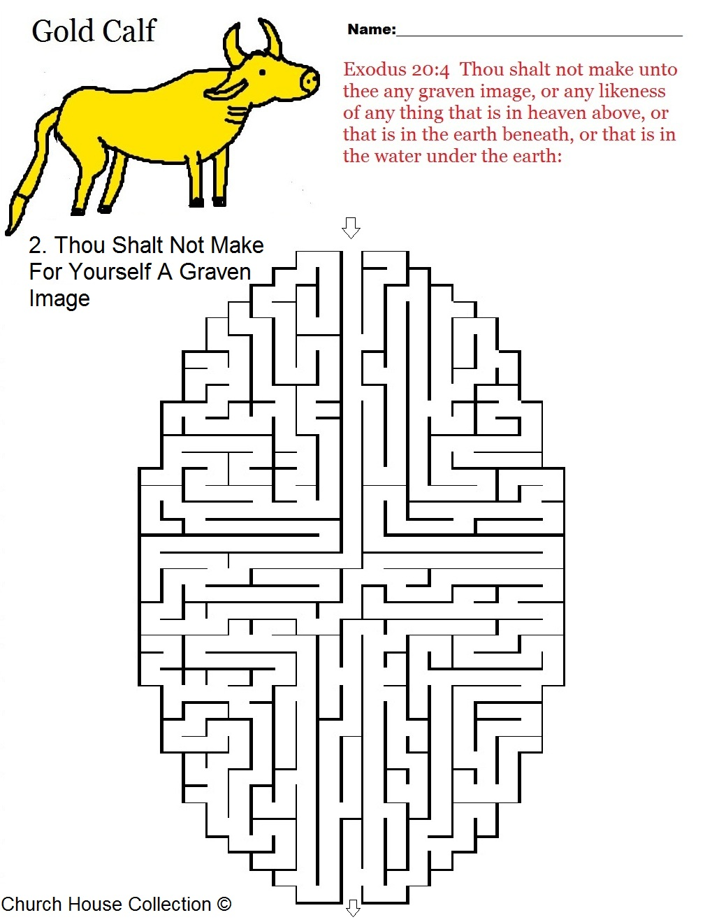 Thou Shalt Not Make For Yourself A Graven Image Maze