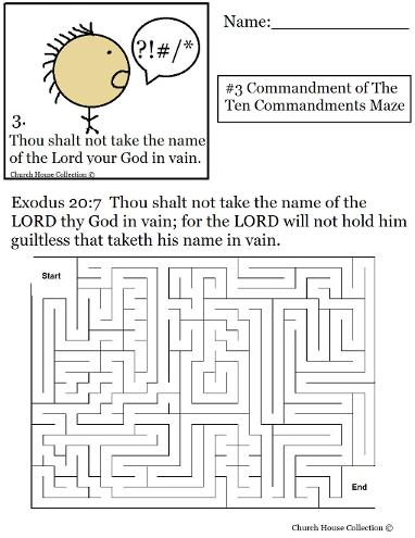 Thou Shalt Not Take The Name Of The Lord Thy God In Vain Maze