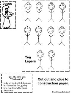 Ten Lepers Activity Sheet