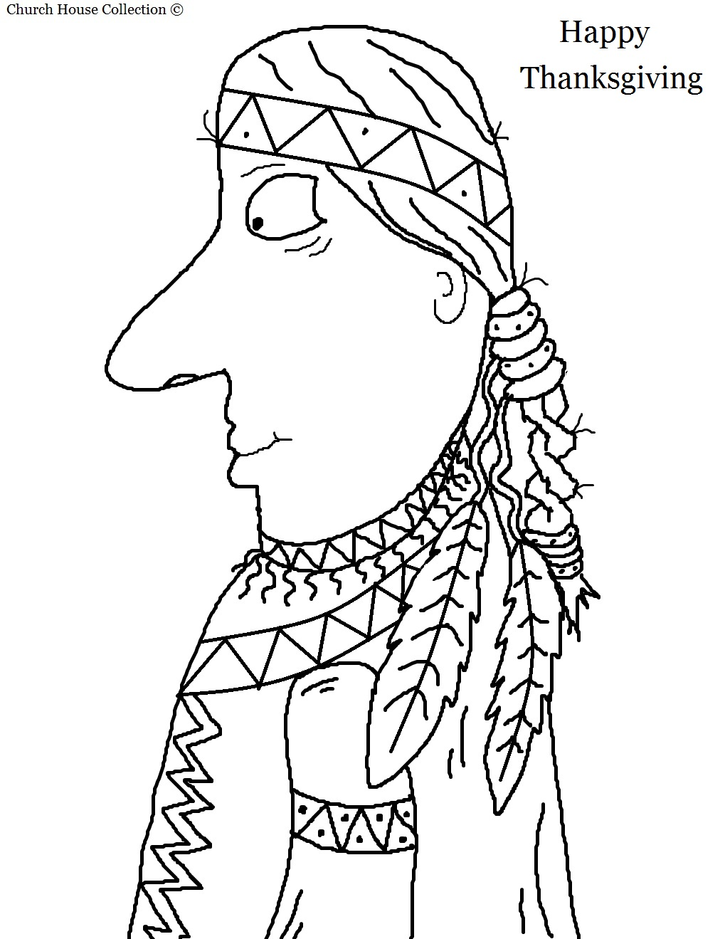 indian coloring page