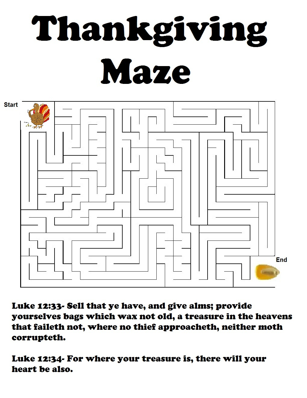 Thanksgiving Legend Maze