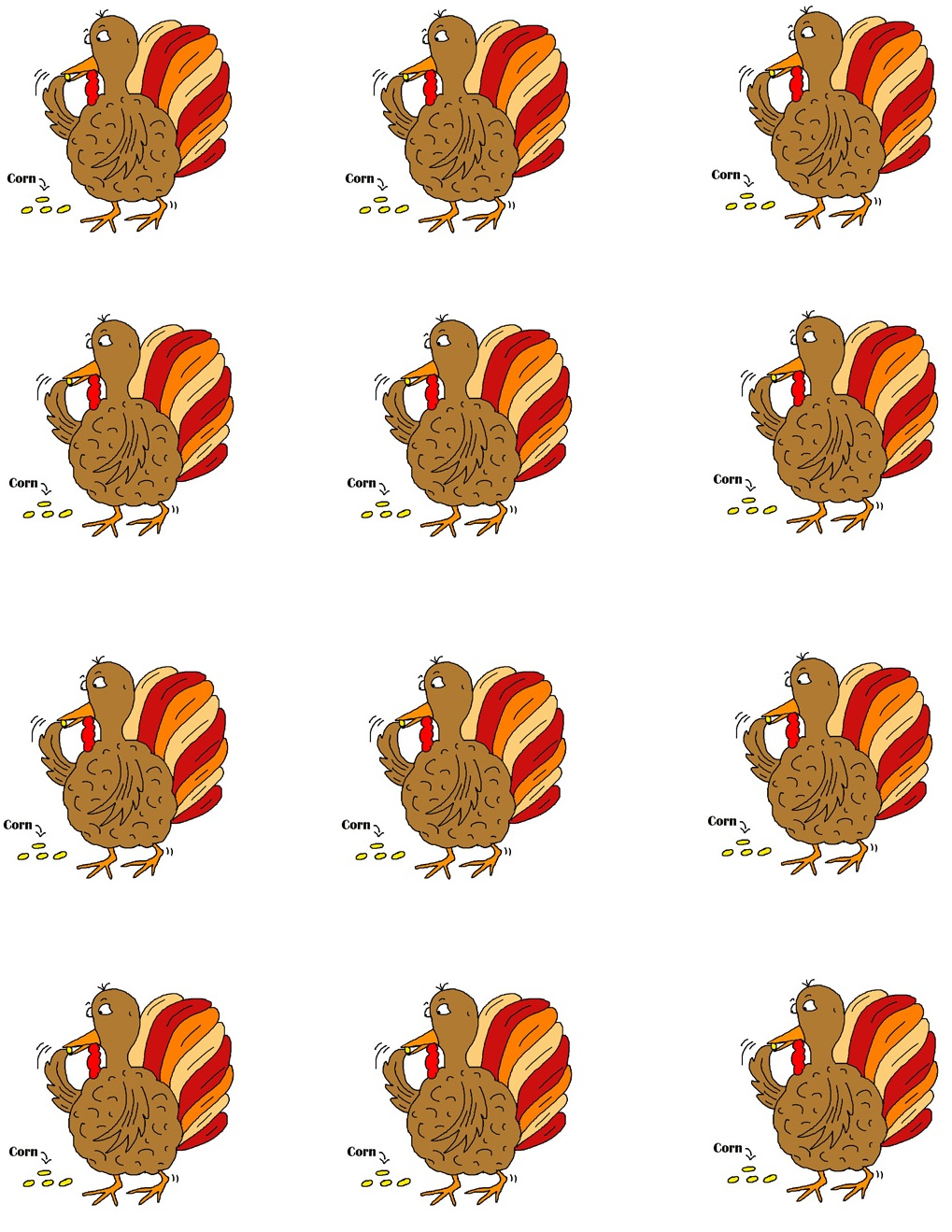 Template Printable Version Thanksgiving Templates