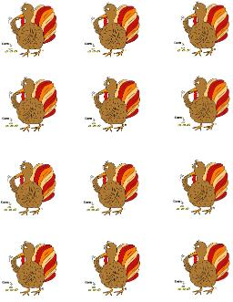 Turkey Eating Corn Template