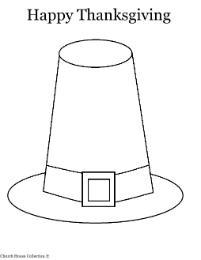 thanksgiving pilgrim hat coloring page