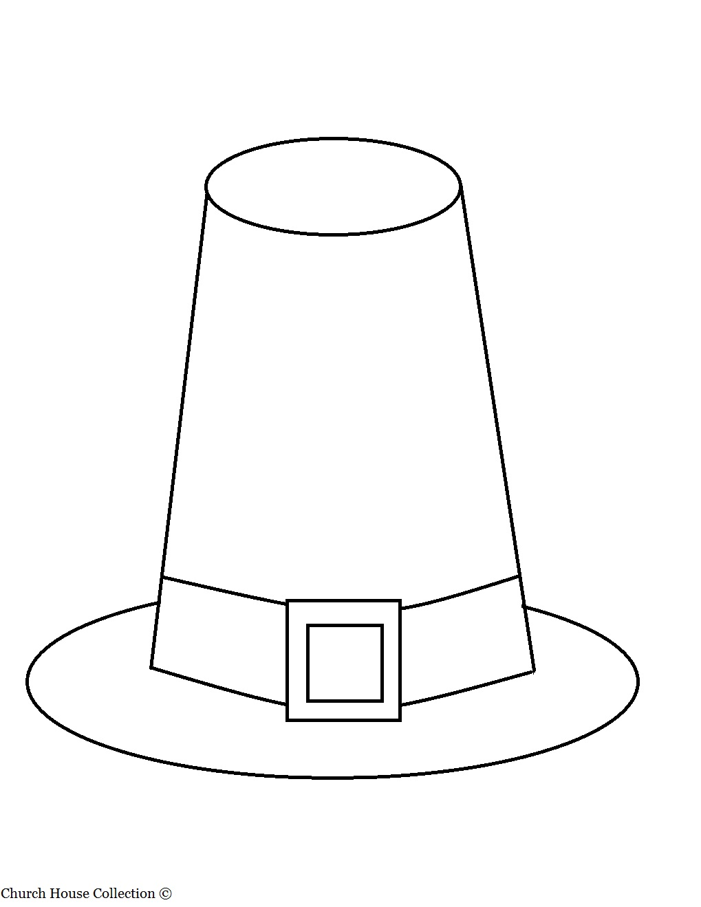 photo regarding Printable Pilgrim Hats named Thanksgiving Pilgrim Hat Coloring Web site