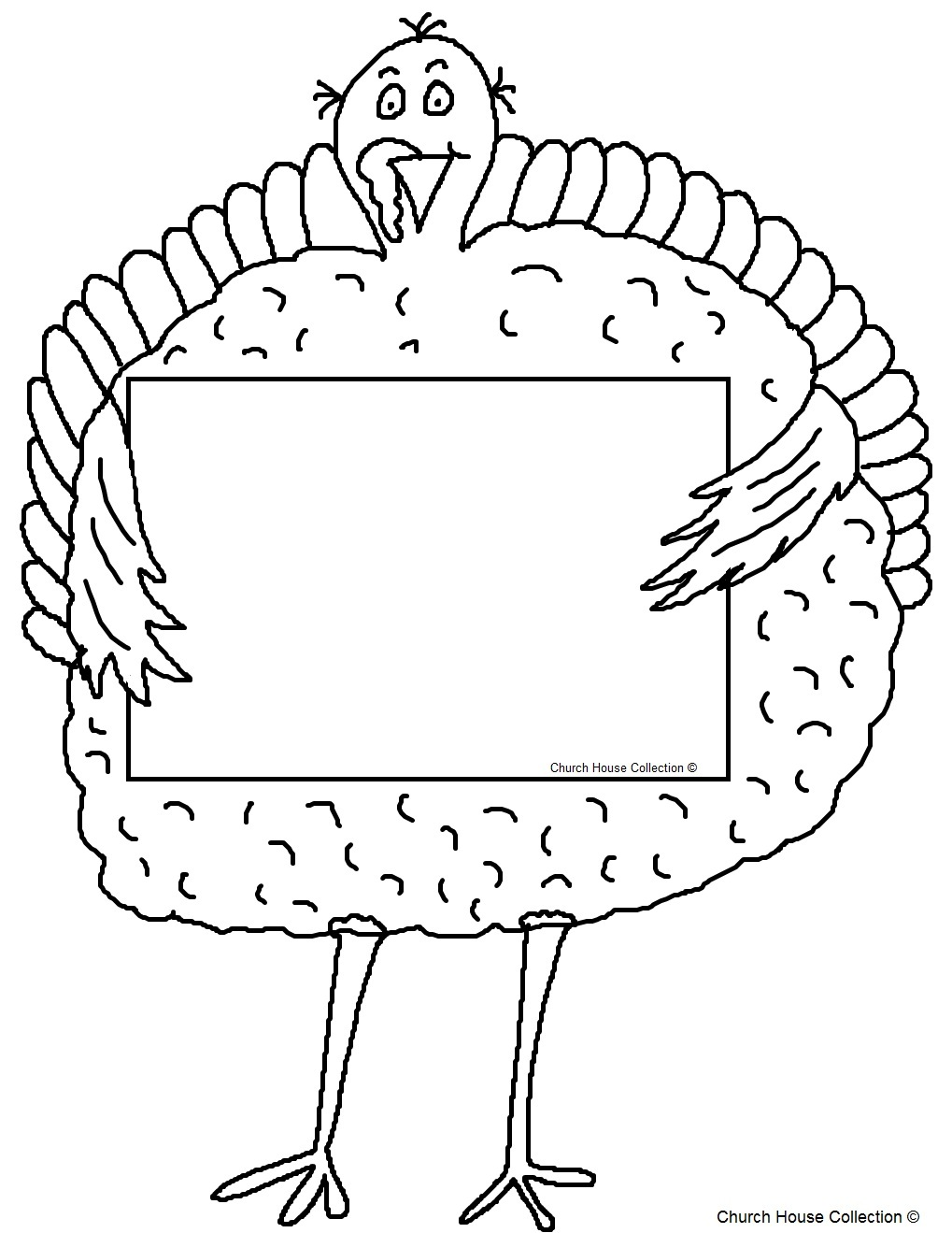 without words - Turkey Coloring Page 2