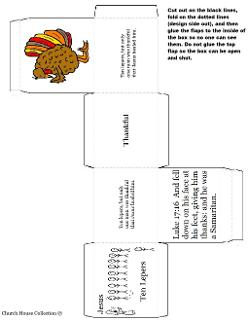 Thanksgiving Turkey Ten Lepers One Thankful Man Box Template