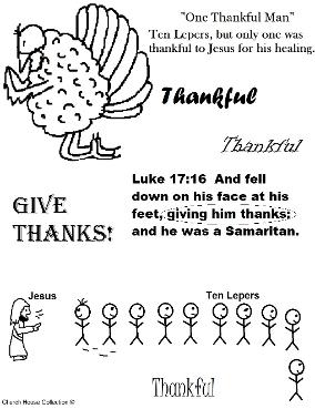 Thanksgiving sunday school printable activity page