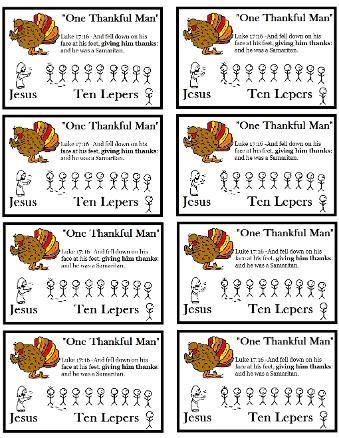 Thanksgiving sunday school lesson printable