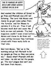 The 10 Plagues of Egypt Boils and Sores Sunday School Lesson