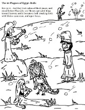The 10 Plagues of Egypt Boils and Sores Coloring Page