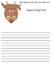 The 10 Plagues of Egypt Cow Word in a word