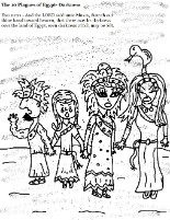 The 10 Plagues of Egypt Darkness Coloring Page