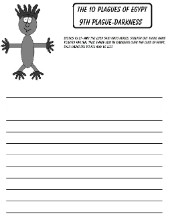 The 10 Plagues of Egypt Darkness Printable Writing Paper